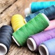 Stock Photo: Colorful bobbins thread