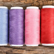 Colorful bobbins thread — Stock Photo