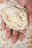 Noodles de ovo cru — Fotografia Stock