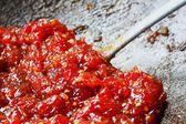 Fabricación de salsa de tomate — Foto de Stock