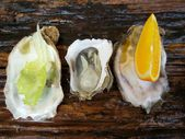 Close up of fresh oysters lettuce  — Foto de Stock