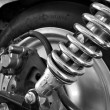Stock Photo: Shock absorber motorcycle