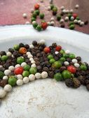 Colorful  peppercorns spice — Stock Photo
