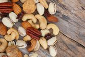 Mix of tasty nuts  — Stock Photo