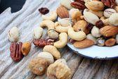 Mix of tasty nuts  — Stockfoto