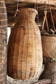 Bamboo basket — Stock Photo