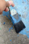 Old paint brush  — Stock Photo