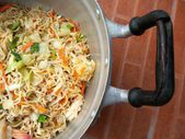 Fried rice noodle — Stock Photo
