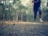 леди, бегущая — Стоковое фото