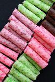 Wafer roll sticks — Stock Photo