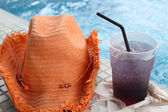 Purple drink in summer  — Stock Photo