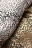 Gold and silver fabric background — Stock Photo
