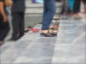 Gente borrosa — Foto de Stock