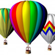 Hot air ballons — Stock Photo