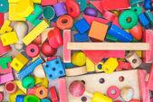 Colorful geometric wood toy — Stock Photo