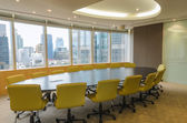 Big conference room in high building — Stock Photo