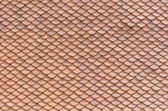 Thai traditional native roof clay tile — Foto Stock