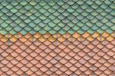 Thai traditional native roof clay tile pattern closeup — Photo