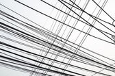 Untidy electrical wire — Stock Photo
