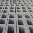 Stock Photo: Cement block top stacking