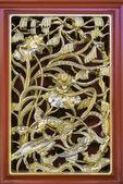 従来の古代中国の装飾的な窓フレーム — ストック写真