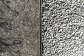 Rough texture cement and white stone — Stock Photo