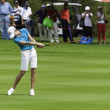 Lorena Ochoa hits fairway shot — Stock Photo
