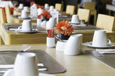 Public dining table set — ストック写真