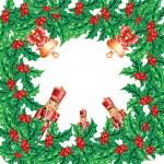 Christmas wreath frame — Stock Photo