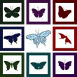 Stock Photo: Butterfly shapes
