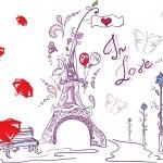 Autumn romantic paris — Stock Photo #15614963