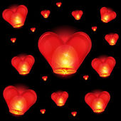 Chinese lantern heart shape — Stock Photo