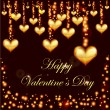 Royalty-Free Stock Vector Image: Valentines day golden hearts background