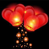 Lantern heart shape — Stock Vector