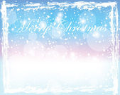 Bright shiny winter merry christmas background — Stock Vector