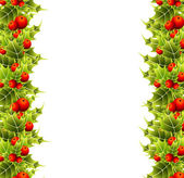 Realistic christmas frame with fir — Stock Vector