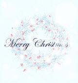 圣诞冬青和槲寄生花环 — 图库矢量图片