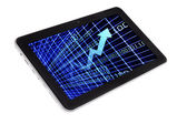 Markets and Charts Trading on Tablet PC — Stock Photo