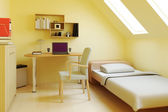Bedroom in attic or loft — Stock Photo
