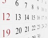 Dny v kalendáři — Stock fotografie