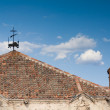 Stock Photo: Weathervane and Brick Chimney