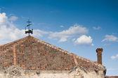 Weathervane and Brick Chimney — Stock Photo