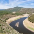 Meander of the Alagon River in Las Hurdes, Extremadura (Spain) - Stock Photo