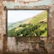 Old room and a landscape view through the window — Stock Photo #14302291
