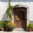 Flowery entrance — Stockfoto