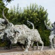 Stock Photo: Sculpture dedicated to traditional bull-running