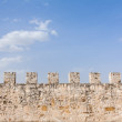 Stock Photo: Ancient castle defensive wall