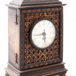 Old wooden clock isolated — 图库照片 #22845198