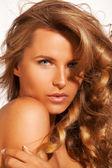 Shiny blond Hair woman. — Stock Photo