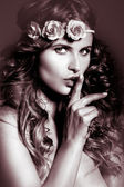 Mystical female in vintage style — Stock Photo
